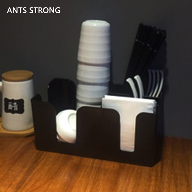 Ants Strong Compartment E Disposable Cups Dispenser Practical Coffee Tea Paper Cup Storage Box