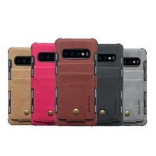 Colorful Button Canvas Wallet Case Card Slot Flip Linen Cover For Samsung S10 Plus Lite Package
