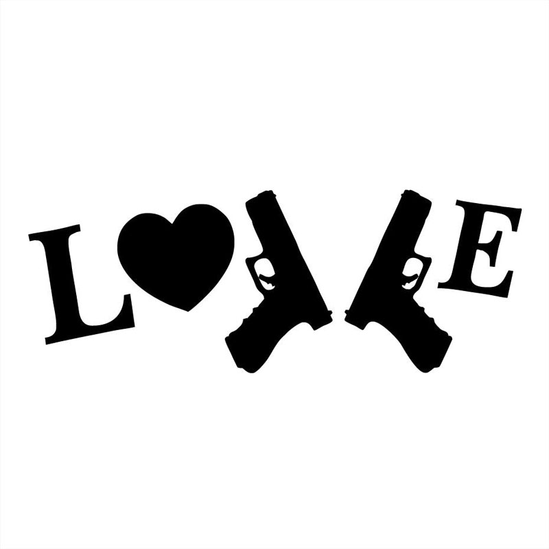16X6.1CM I LOVE MY GUNS Car-styling Funny Vinyl Decals Car Sticker S8-0039