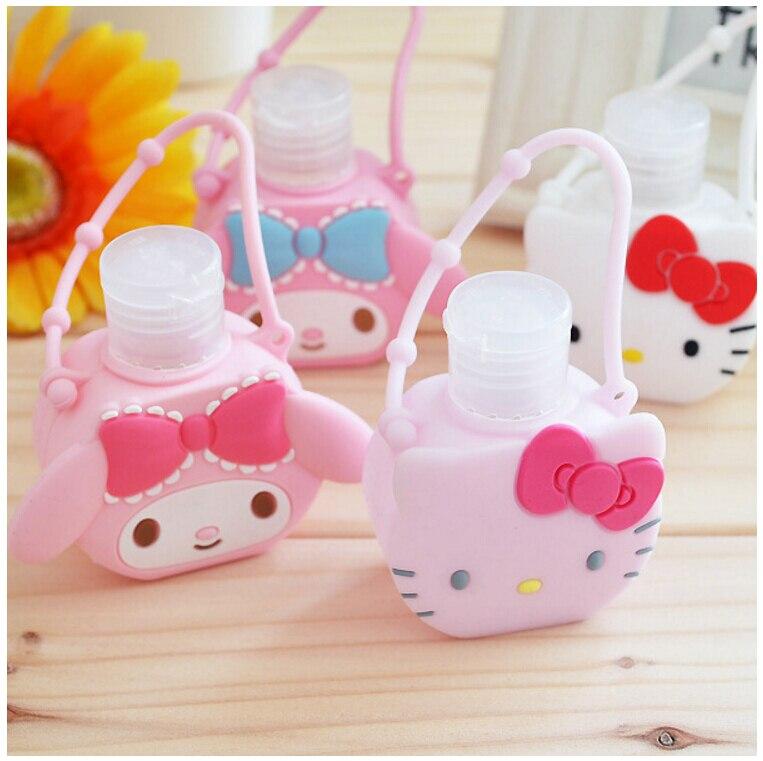 Hallo kitty hand sanitizer körper waschen flasche lotion flasche reise