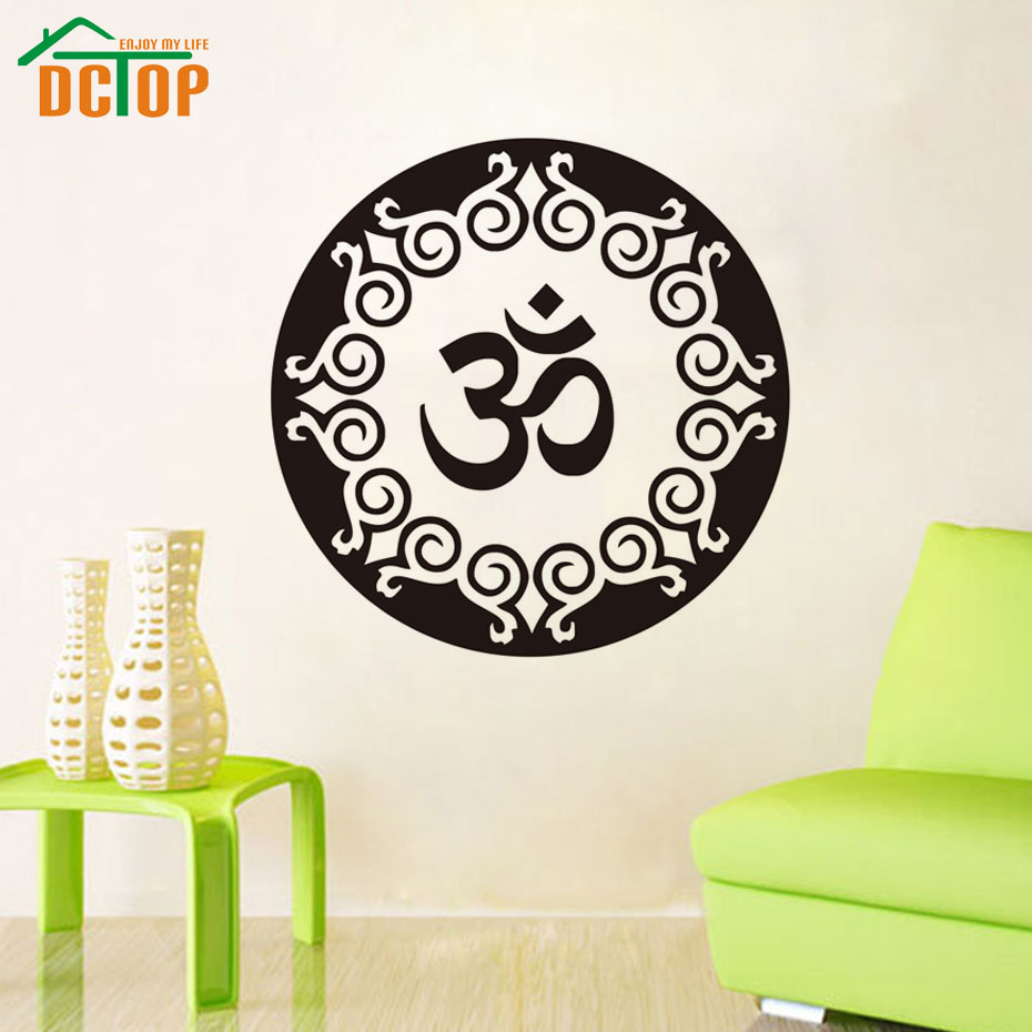 Yoga Wandtattoo Vinyl Abnehmbare Kunst Wohnkultur Wohnzimmer Wandaufkleber Mandala Indische Religises SymbolChina