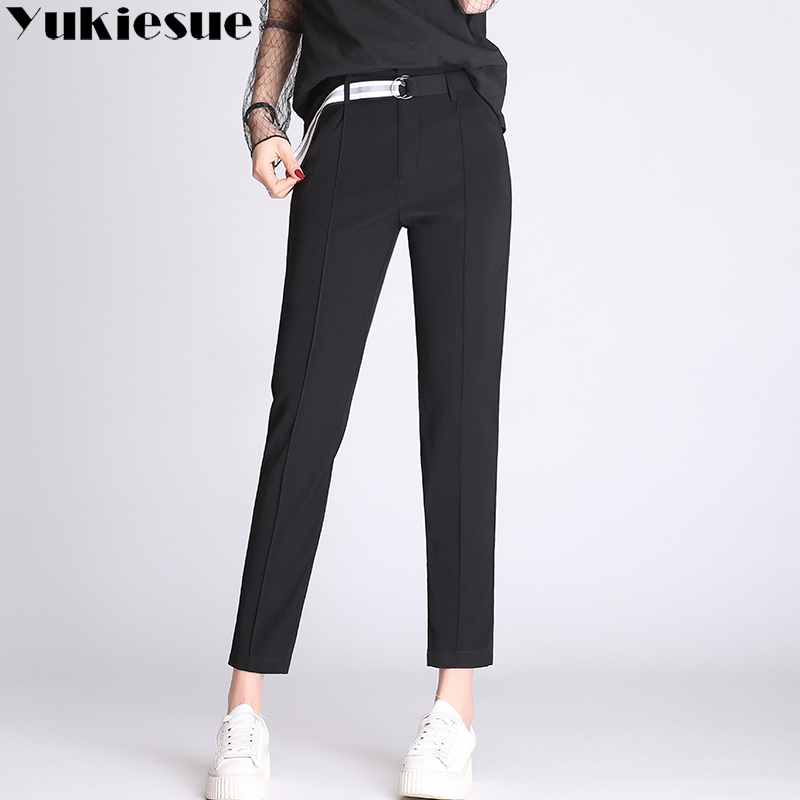 High waist   pants     capris   women 2018 summer spring formal pantalon mujer femme loose casual harem   pants   female trousers Plus size