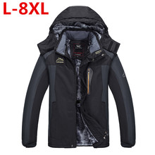 9XL 8XL  Winter Thick Padded Parka Men Jacket Coat Russian Wadded Long Hooded Casual Warm Snow Windbreaker Overcoat Male Jackets