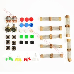 Suq 1 sets Handy Portable Resistor Kit for Arduino Starter Kit UNO R3 LED potentiometer tact switch pin header(China)