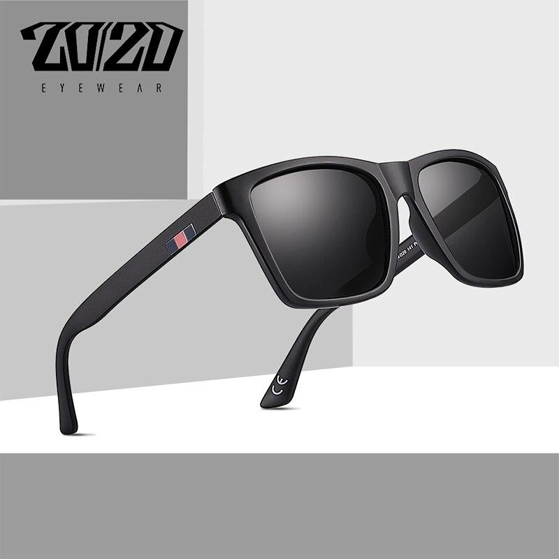 37de6166a2ecc 20 20 Brand Design Retro Polarized Men Sunglasses Driving Black Square  Shades Sun Glasses For