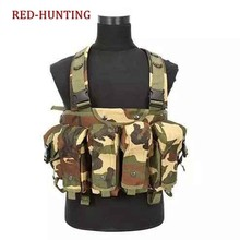 High Quality Tactical Vest Airsoft Ammo Chest Rig AK 47/74 Magazine Carrier Combat Tactical Military Camouflage Vest Gear(China)