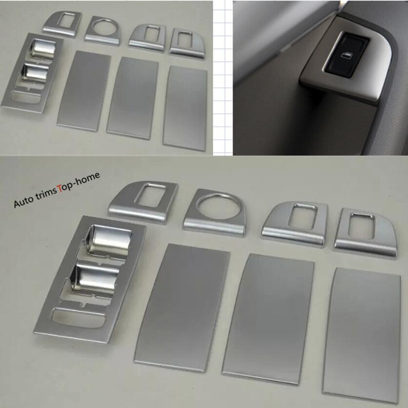 Yimaautotrims ABS Door Armrest Window Glass Lift Button Panel Frame Cover Trim For Skoda Octavia MK3 A7 2015 2018