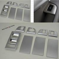 Yimaautotrims Door Armrest Window Glass Lift Button Panel Frame Cover Trim For Skoda Octavia MK3 A7 2015 2018 ABS