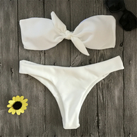 Ariel Sarah Brand Hot Sexy Solid Swimwear Women Swimsuit Chest Bandage Bikini Halter Bathing Suit Push
