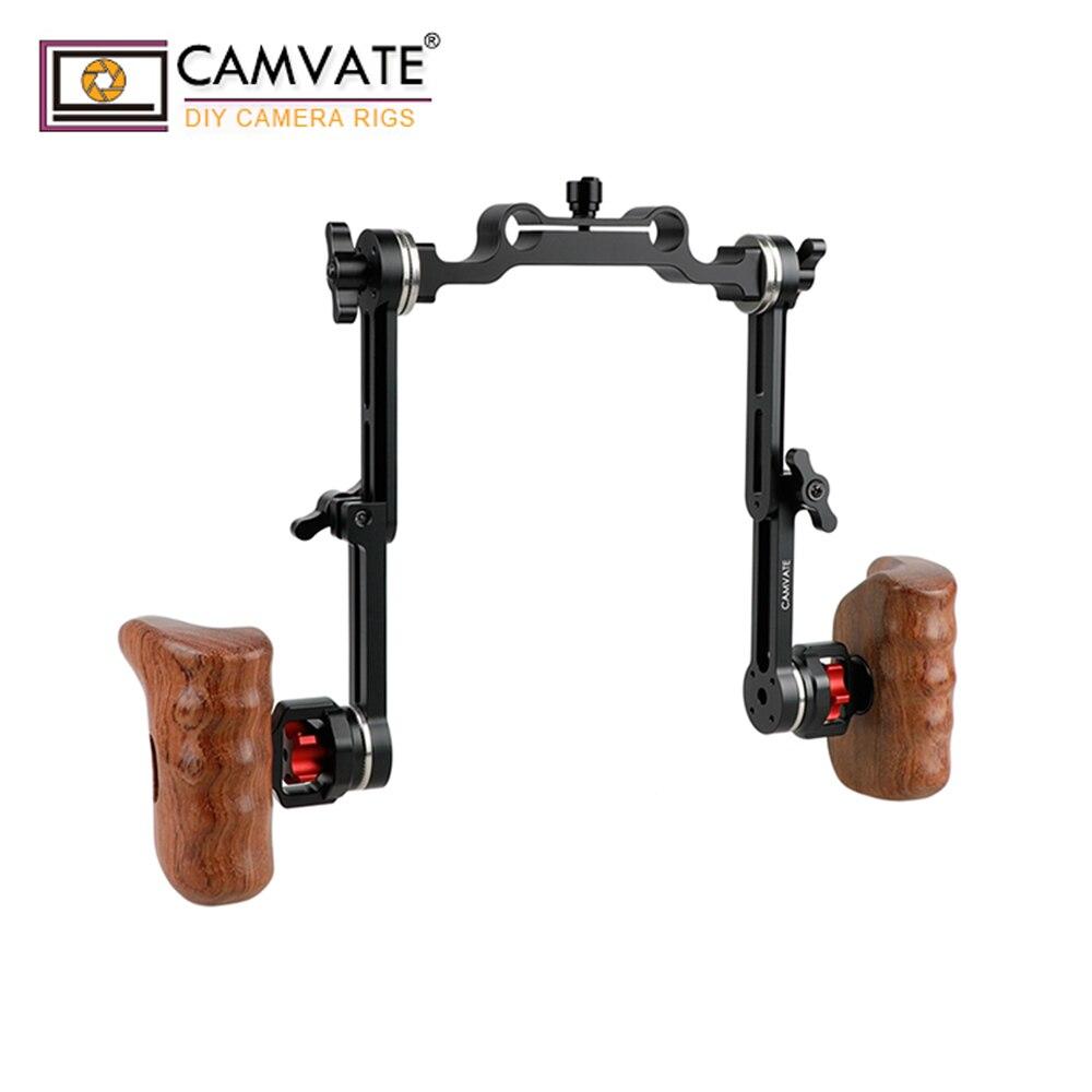 CAMVATE Estensione di tipo di Perforazione Della Spalla ARRI Rosetta Maniglia Kit C1882 macchina fotografica accessori per la fotografia