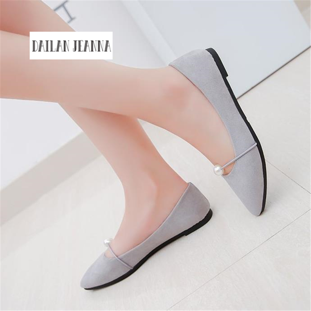 2018 New Women Suede Flats Fashion High Quality Basic Mixed Colors Pointy Toe Ballerina Ballet Flat Slip On Shoes 2018 new women flats fashion soft bottom diamond pointy toe ballerina ballet flat slip on women shoes b201
