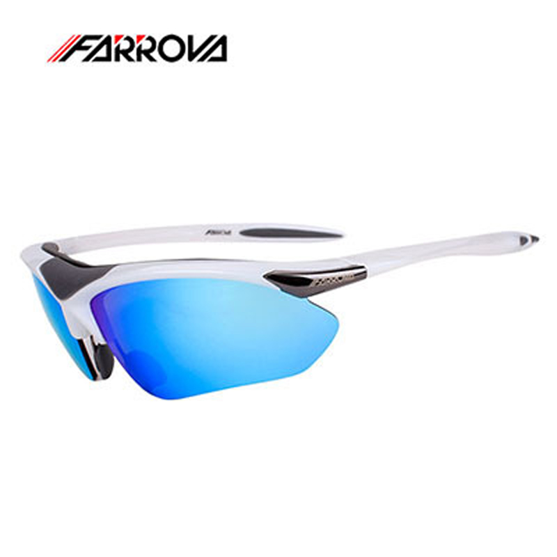 Farrova Polarized Cycling Sunglasses For Motorcycle Outdoor Sports Eyewear Bicycle Glasses Sun Glasses Bike Goggles With 5 Lense queshark polarized cycling sunglasses mountain road bike glasses riding bicycle goggles hiking sports eyewear with myopia frame