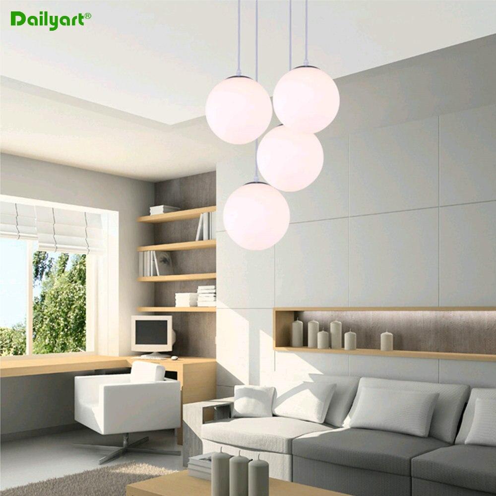 modern simple style 152025303540cm white ball ball pendant lighting