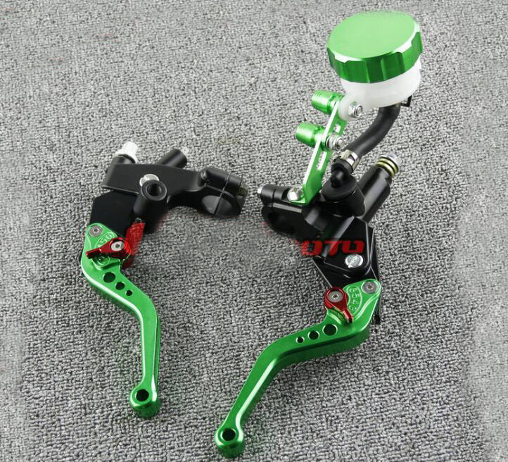 Free Shipping Suitable for 7 / 8'' 22mm Motorcycle Brakes Clutch Brake Levers Master Cylinder - - green free shipping suitable for 7 8 22mm motorcycle brakes clutch brake levers master cylinder black