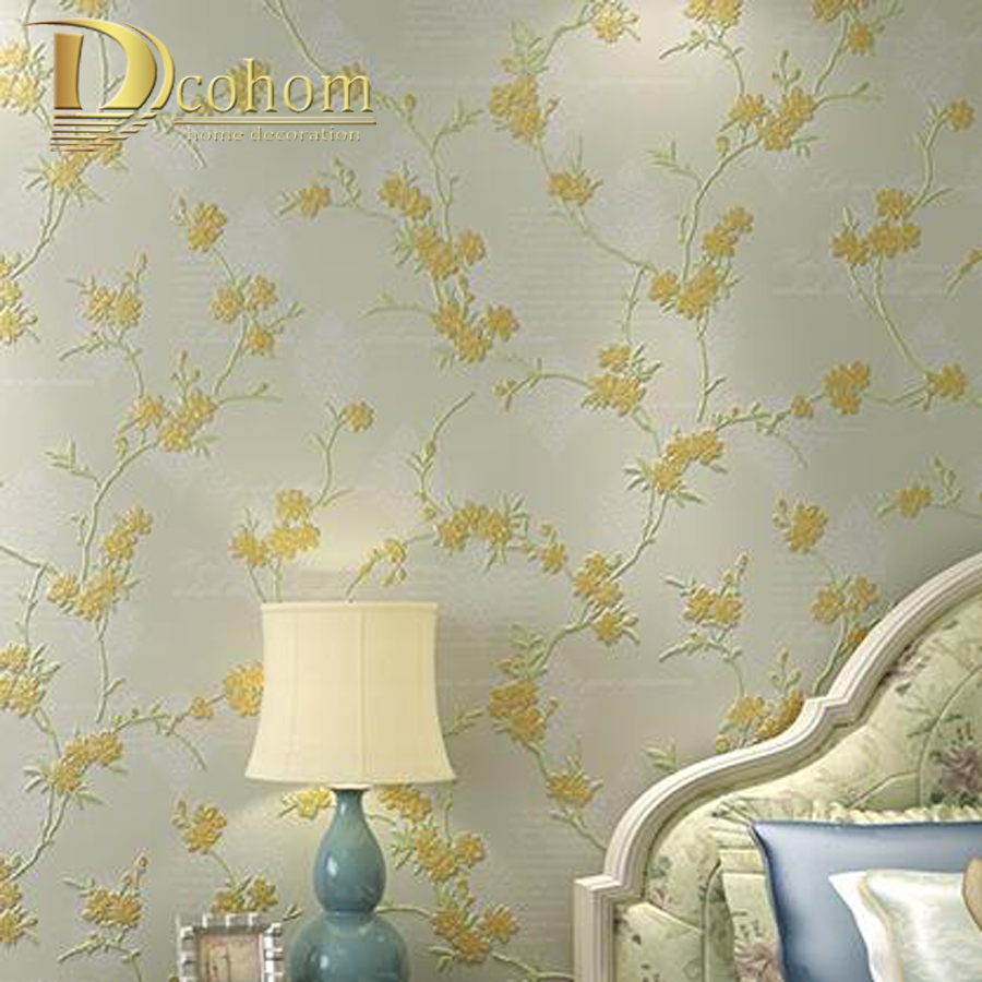 High Quality Modern Flower 3D Wallpaper For Walls Non-Woven Eco-Friendly papel de parede For Bedroom Living Room Sofa Decor non woven bubble butterfly wallpaper design modern pastoral flock 3d circle wall paper for living room background walls 10m roll
