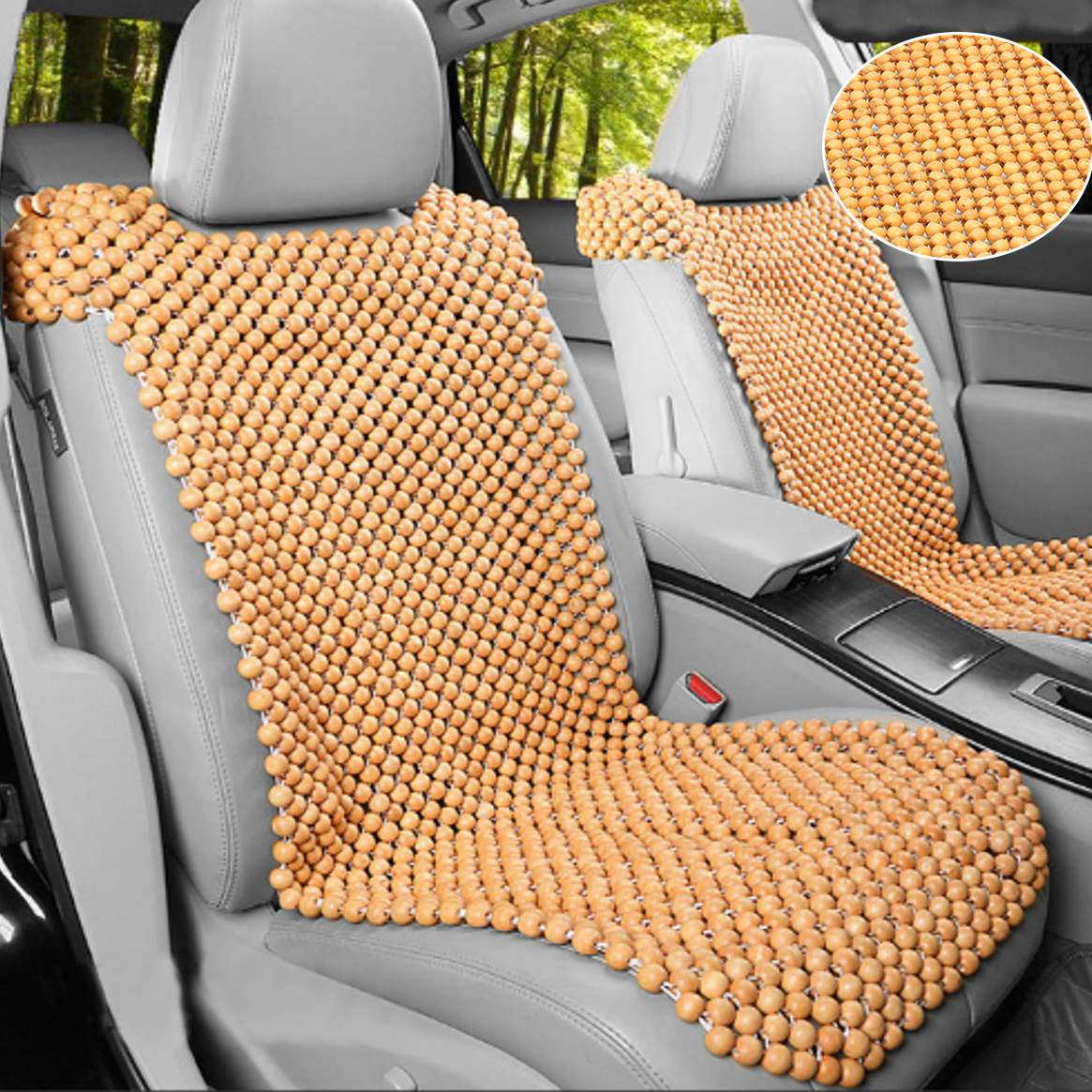 Aliexpress Buy 1x Automobiles Car Seat Covers Universal Wood Wooden Beaded Home Chair Cover Massage Cool Cushion From Reliable