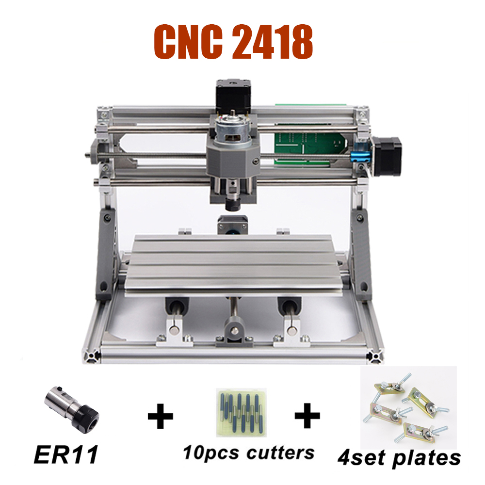 Laser Engraving Machine <font><b>CNC</b></font> <font><b>2418</b></font> Laser Router Machine With ER11 Collet 500MW/2500MW/5500MW Optional lasers image