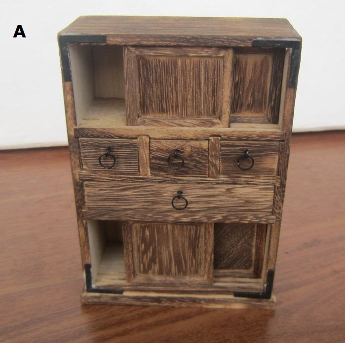 Handmade Antique Wooden Cabinet Living Room Ornament New Home Mini Furniture Model Nostalgia