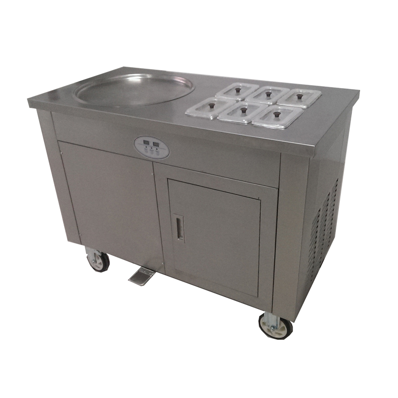 Single Pan Fried Ice Cream Machine With 6 Cooling Tanks Price Is For Gleb