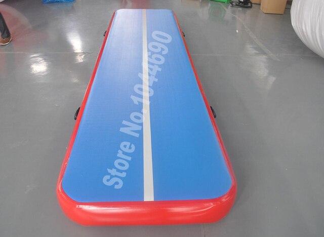 Бесплатная доставка хорошее качество настроить дизайн надувные гимнастика воздуха трек акробатика воздуха трек для продажи (4*1 м)