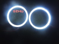July King 60mm External Diameter, 2pcs, Super Bright Waterproof LED Angel Eyes Rings, COB Lens, Q5 Hella, Big Lamp