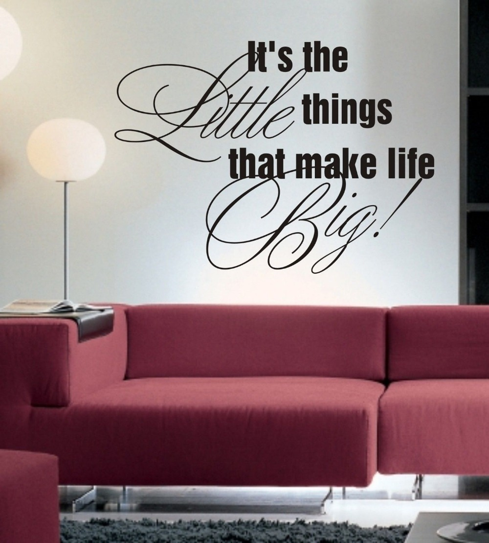 It's The Little Things Wall Art Sticker Quote Living Room