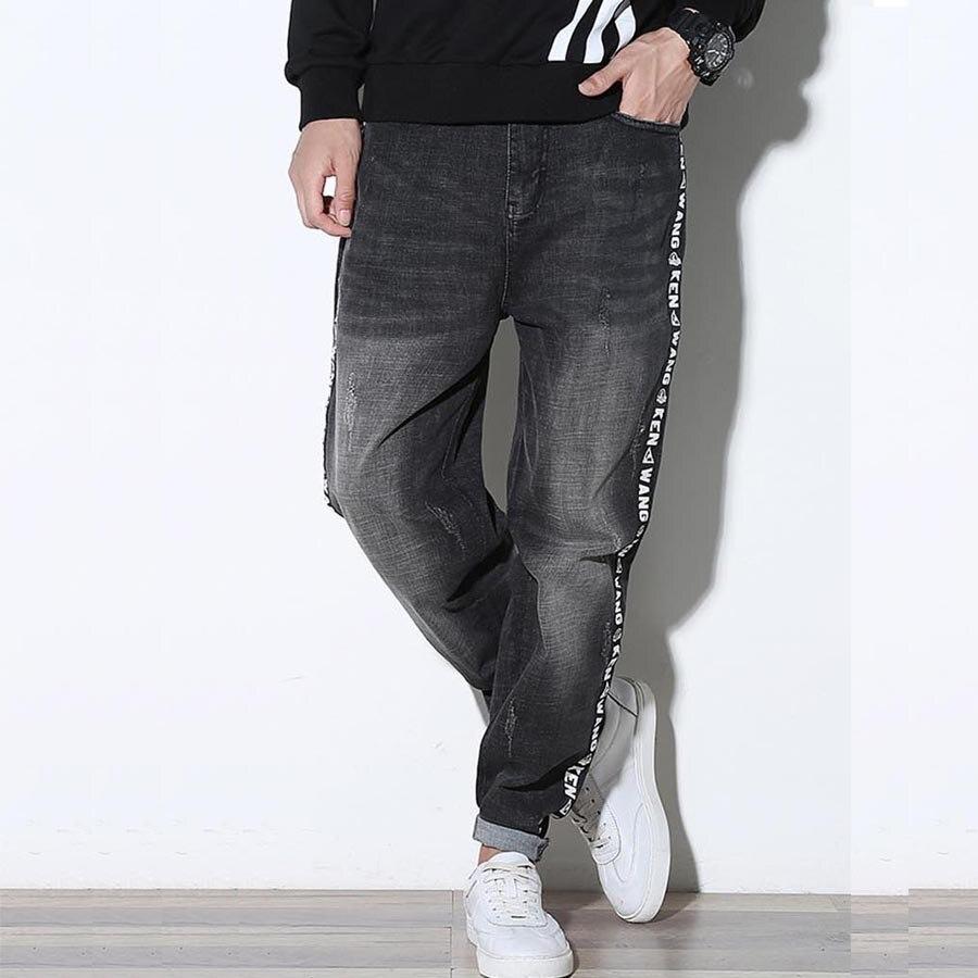 Korting Goedkope Heren Stretch Jeans Losvallende Baggy Hiphop Cargo - Herenkleding - Foto 5