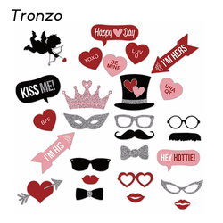 Tronzo wedding decoration photo booth 27pcs glasses mustache lips party decoration supplies funny valentine s day.jpg 250x250