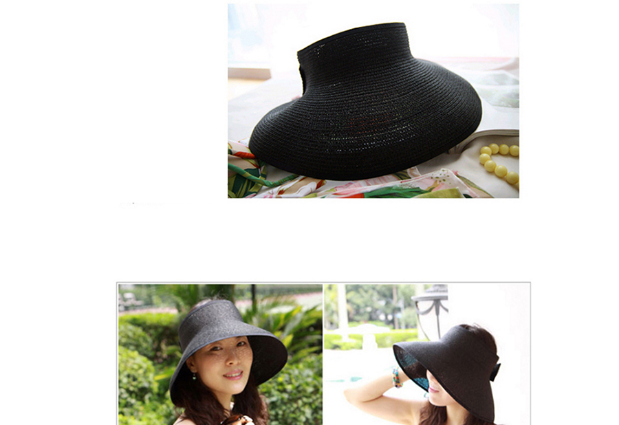 LaMaxPa New Women Summer Visors Hat Foldable Sun Hat Wide Large Brim Beach Hats Straw Hat chapeau femme Beach UV Protection Cap