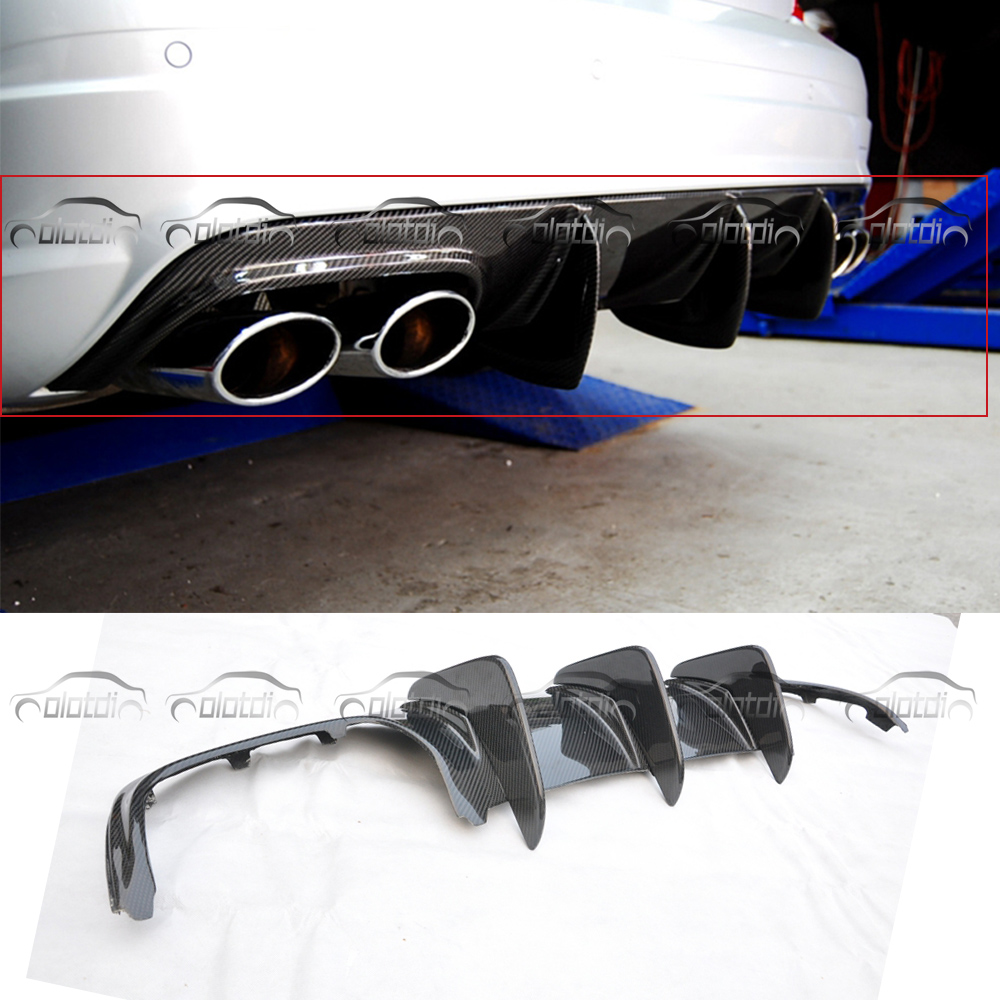 for Mercedes Benz W204 C63 AMG 4 Door Only 09-11 Prophas AMG Style Car Styling C Class Carbon Fiber Rear Lip Spoiler Diffuser image