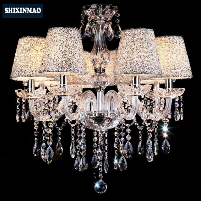 SHIXNIMAO Luxury Electric Crystal Chandelier 6Arm/8Arm/10Arm/15Arm Crystal lamp Crystal Chandelier 009