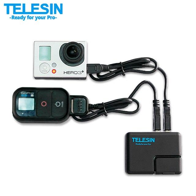 TELESIN GoPro Dual USB Порт Быстрая Быстрая Зарядка Зарядное Устройство Адаптер + США/ЕС Plug для Go Pro Hero 5 4 3 + 3 и Мобильный телефон