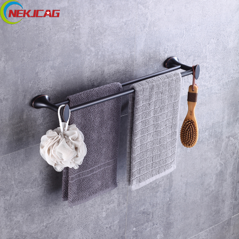 Bathroom Towel Rack with Cloth Robe Hook, ORB Brass Towel Shelf with Bar, Towel Holder for Bathroom Accessories 032365bathroom shelf bathroom shelf convenient rack with hook accessories colorful moistureproof environmental beautiful