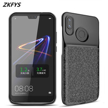 цены ZKFYS 5200mAh Battery Charger Case For Huawei Nova 3 3i Ultra Thin Fast Charger Battery Cover For Huawei Honor Play Battery Case