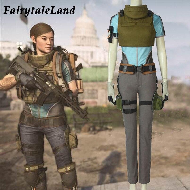 Jeu Tom Clancy la Division 2 Costume de cosplay femme personnage Cosplay gilet accessoires Division deux femmes Costume complet tenue
