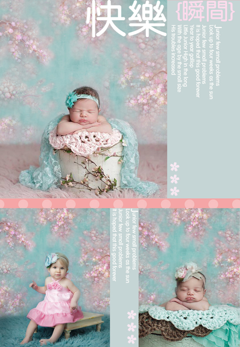 Customize newborn floral photography backdrops 5x7ft  pink vinyl digital cloth for photo studio portrait props background S-101 5 x 7 ft pink love hearts print photo backdrop for wedding party portrait photography studio background s 1305