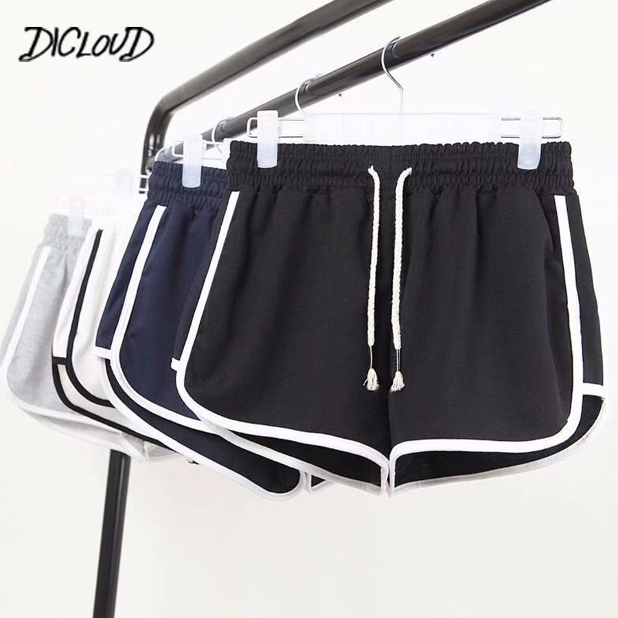 DICLOUD Fashion Summer Casual   Shorts   Woman 2018 Stretch High Waist Booty   Shorts   Female Black White Loose Beach Sexy   Short   S-XXL