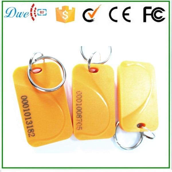 DWE CC RF Access RFID Proximity card 13.56MHZ FM1108 inner chip Key chains Tag 50pcs turck proximity switch bi2 g12sk an6x