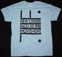NEW ORDER MOVEMENT 1981 NEW WAVE SYNHPOP JOY DIVISION NEW LIGHT BLUE T SHIRT 100% Cotton Tee Shirt,Summer O Neck Tee