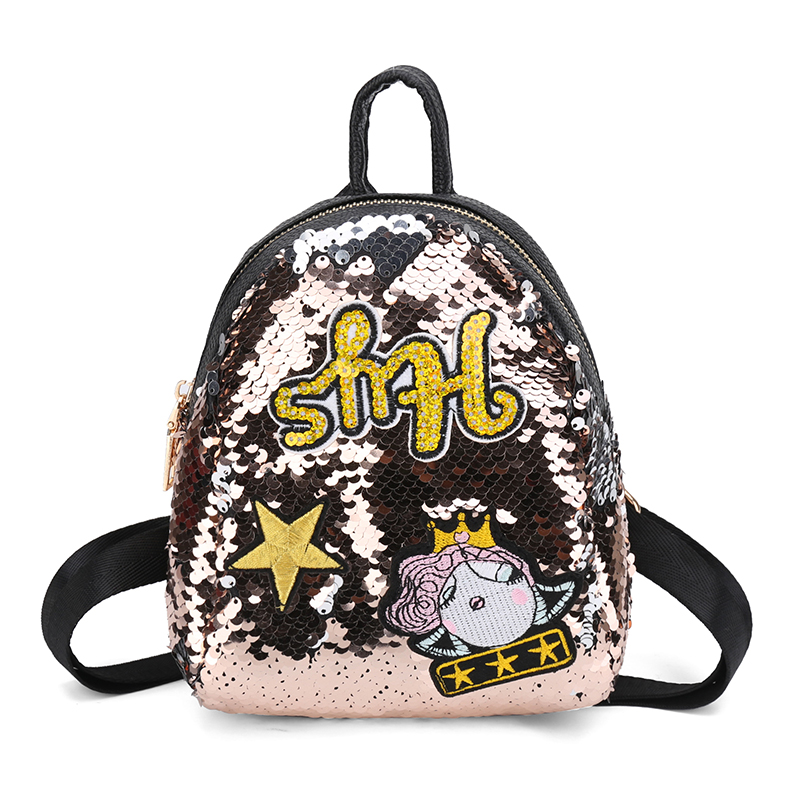 PU+Sequins Women Backpacks School Bags for Girls Children Bling Small Backpacks New Mini Backpack shoulder bag Mochila Sac A Dos hynes eagle 3 pcs set 3d letter bookbag boys backpacks school bags children shoulder bag mochila girls exo printing backpack