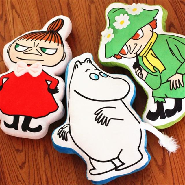 1pc 46cm super cute cartoon hippo Moomin girl Ami plush toy Little My cushion pillow birthday gift  girlfriend  free shipping