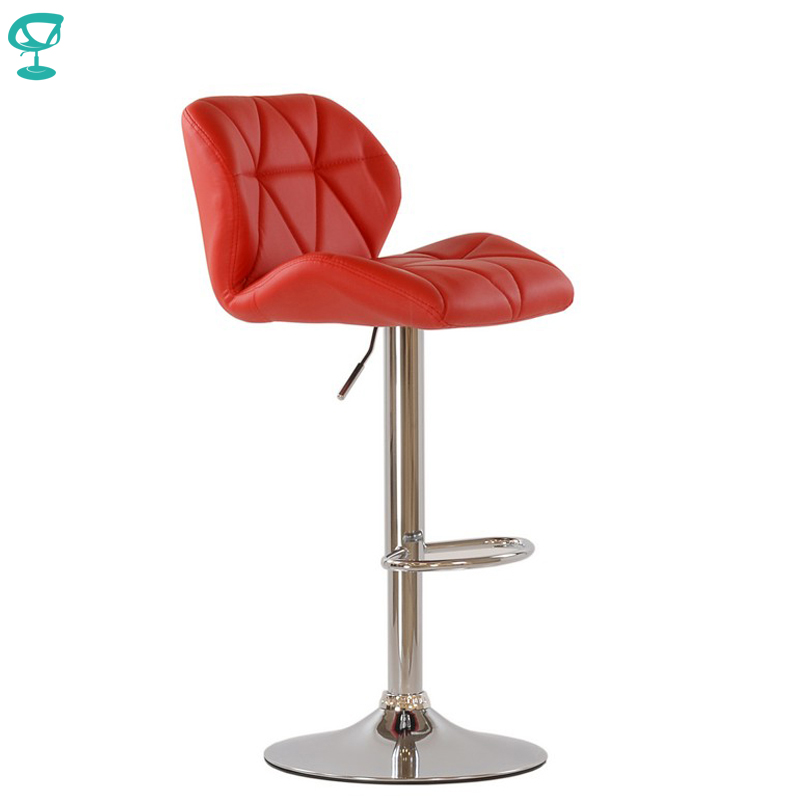 95339 Barneo N-85 Leather Kitchen Breakfast Bar Stool Swivel Bar Chair Red Color Free Shipping In Russia