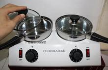 Uso doméstico 2 Olla de Chocolate Crisol fuente de Chocolate máquina De Fusión Del Horno olla de acero inoxidable Termostática