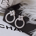 Design Elegant Temperament Trendy Style Push-back Stud Earrings For Women Fashion Jewelry