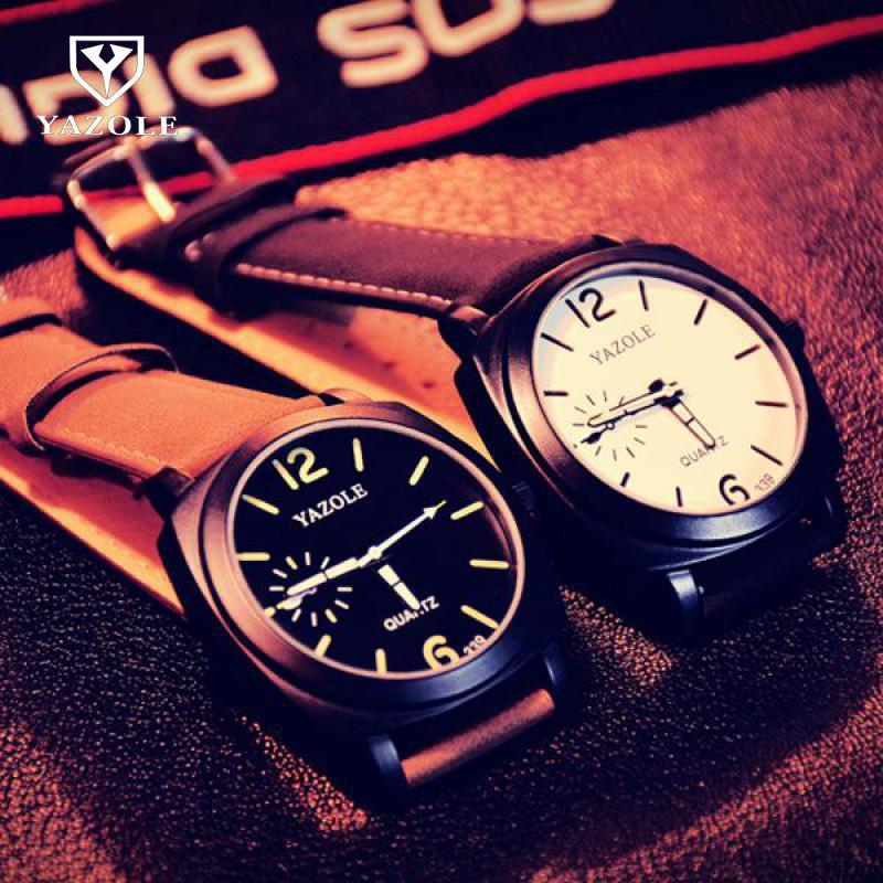 купить Hot Sale 100% New Fashion YAZOLE Brand Backlight Leather Casual Quartz Watch Wristwatches for Men Male Women No.339 онлайн