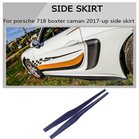 Carbon Fiber Side Bumper Skirts Side skirts Extension Car Styling for Porsche 718 boxster cayman 2017 up
