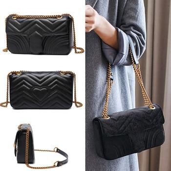 d793928ec Diseñador de lujo clásico GG bolsas para las mujeres de cuero de la señora  cadena bolso de hombro bolsos marcas famosas mujeres de moda bolso de mano