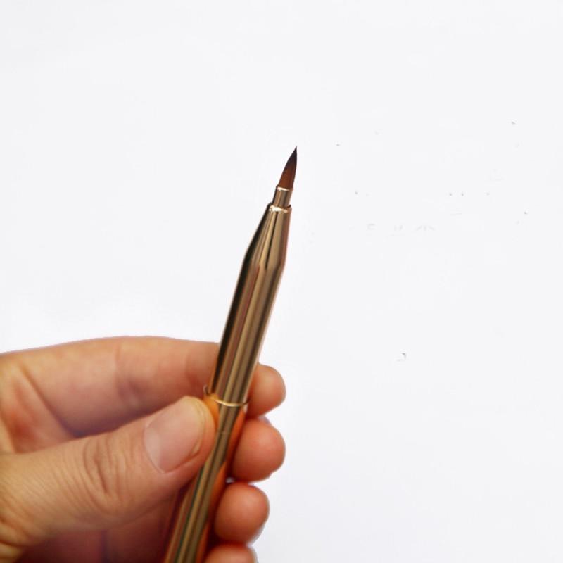 Pro Pincel de maquillaje de dos cabezas Pincel retráctil Labio - Maquillaje - foto 3