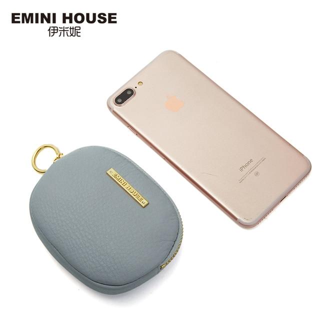 EMINI HOUSE Genuine Leather Cute Coin Purse Multi-Color Optional Coin Wallet Mini Purse For Women Zipper Mini Bag Pouch Coin Purses & Holders
