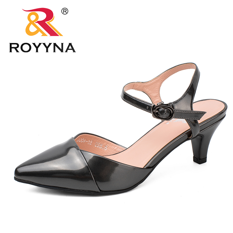 ROYYNA New Fashion Style Women Pumps Pointed Toe Women Wedding Shoes Mirror Lady Shoes Shallow Lady Dress Shoes Free Shipping